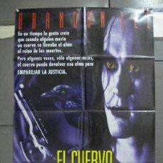 Cine: AAH44 EL CUERVO THE CROW BRANDON LEE POSTER ORIGINAL AMERICANO 70X100 ESTRENO EN ESPAÑOL. Lote 204170901