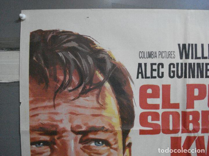 Cine: AAH45 EL PUENTE SOBRE EL RIO KWAI DAVID LEAN ALEC GUINNESS WILLIAM HOLDEN JANO POSTER ORG 70X100 R71 - Foto 2 - 204171356
