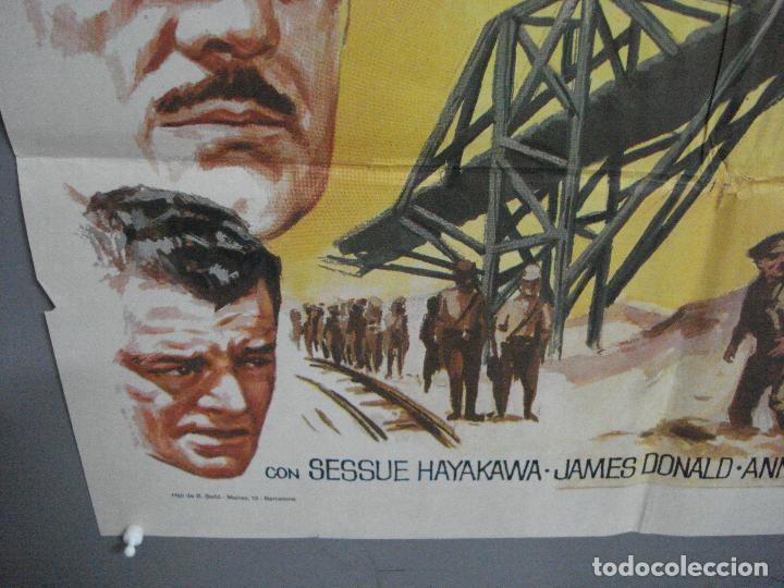 Cine: AAH45 EL PUENTE SOBRE EL RIO KWAI DAVID LEAN ALEC GUINNESS WILLIAM HOLDEN JANO POSTER ORG 70X100 R71 - Foto 5 - 204171356