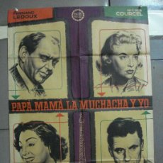 Cine: AAH48 PAPA MAMA LA MUCHACHA Y YO GABY MORLAY MAC POSTER ORIGINAL 70X100 ESTRENO LITOGRAFIA. Lote 204173777