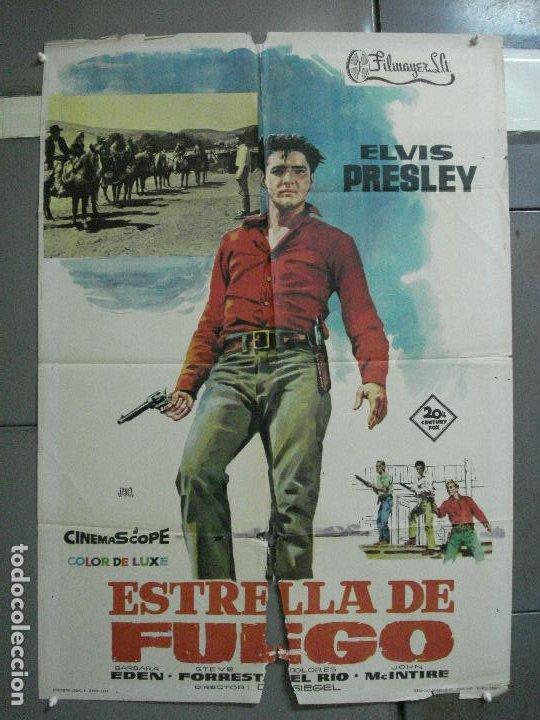 AAH53 ESTRELLA DE FUEGO FLAMING STAR ELVIS PRESLEY POSTER ORIGINAL ESPAÑOL 70X100 ESTRENO (Cine - Posters y Carteles - Musicales)