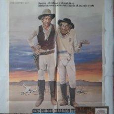 Cine: ANTIGUO CARTEL CINE EL SABINO Y EL PISTOLERO GENE WILDER HARRISON FORD + 12 FOTOCROMOS 1979 CC188. Lote 204227157