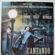Cinema: CANTANDO BAJO LA LLUVIA, CON GENE KELLY. POSTER REPOSICIÓN. 67 X 99,5 CMS.. Lote 204252347