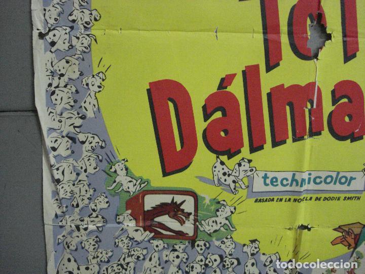 Cine: AAH64 101 DALMATAS WALT DISNEY ANIMACION POSTER ORIGINAL 70X100 ESTRENO - Foto 4 - 204254028