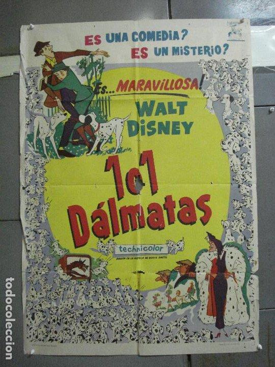 AAH64 101 DALMATAS WALT DISNEY ANIMACION POSTER ORIGINAL 70X100 ESTRENO (Cine - Posters y Carteles - Infantil)
