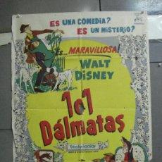 Cine: AAH64 DALMATAS WALT DISNEY ANIMACION POSTER ORIGINAL 70X100 ESTRENO. Lote 204254028