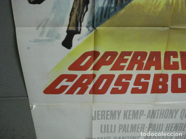 Cine: CDO 2367 OPERACION CROSSBOW GEORGE PEPPARD SOFIA /SOPHIA LOREN POSTER ORIG 3 hojas 100X205 ESTRENO - Foto 6 - 204257478