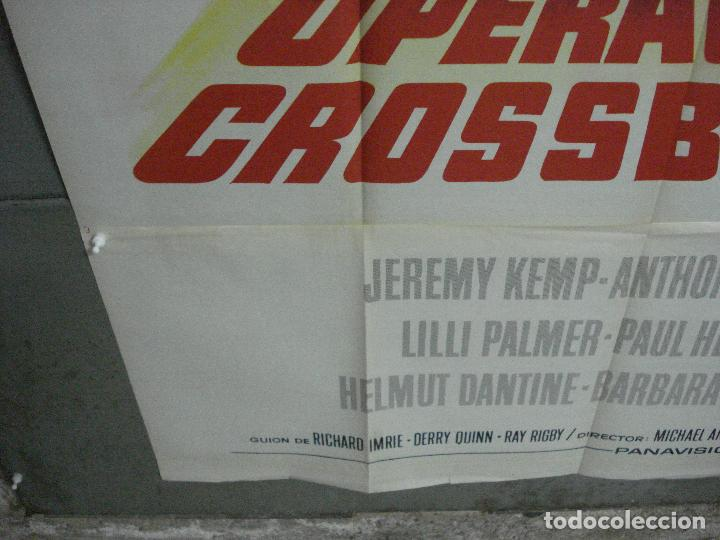 Cine: CDO 2367 OPERACION CROSSBOW GEORGE PEPPARD SOFIA /SOPHIA LOREN POSTER ORIG 3 hojas 100X205 ESTRENO - Foto 7 - 204257478