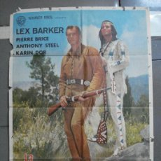 Cine: CDO 2374 LA CARABINA DE PLATA LEX BARKER KARL MAY POSTER ORIGINAL 70X100 ESTRENO. Lote 204261445