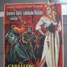 Cine: CDO 2375 EL CABALLERO DE LOS CIEN ROSTROS LEX BARKER POSTER ORIGINAL 70X100 ESTRENO. Lote 204265870
