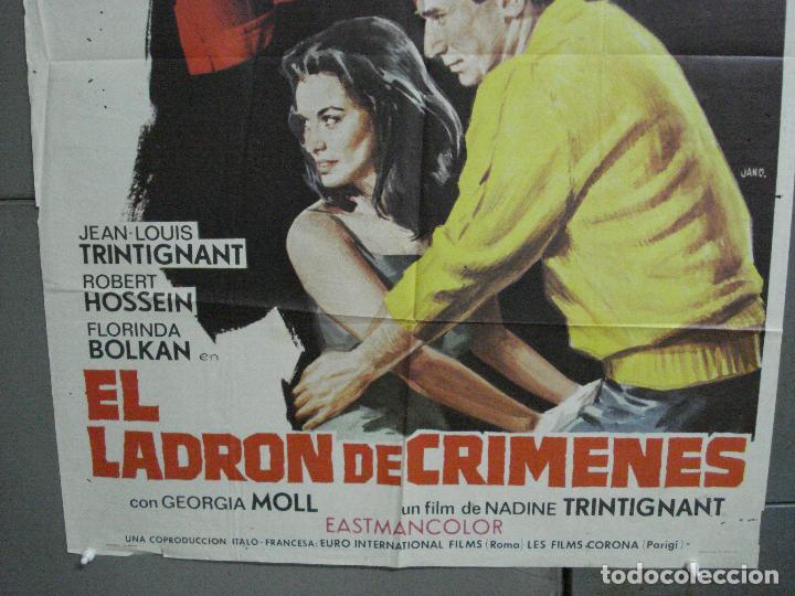 Cine: CDO 2384 EL LADRON DE CRIMENES JEAN LOUIS TRINTIGNANT FLORINDA BOLKAN POSTER ORIGINAL 70X100 ESTRENO - Foto 3 - 204276421