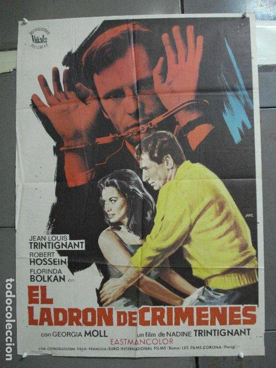 CDO 2384 EL LADRON DE CRIMENES JEAN LOUIS TRINTIGNANT FLORINDA BOLKAN POSTER ORIGINAL 70X100 ESTRENO (Cine - Posters y Carteles - Terror)
