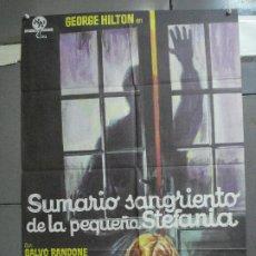 Cine: CDO 2385 SUMARIO SANGRIENTO DE LA PEQUEÑA ESTEFANIA TONINO VALERI GIALLO POSTER ORIG 70X100 ESTRENO. Lote 204276785