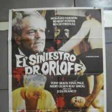 Cine: CDO 2388 EL SINIESTRO DR. ORLOFF JESUS FRANCO POSTER ORIGINAL 70X100 ESTRENO. Lote 204278106