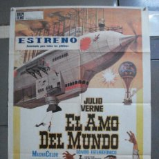 Cine: CDO 2392 EL AMO DEL MUNDO VINCENT PRICE JULIO VERNE POSTER ORIGINAL 70X100 ESTRENO. Lote 204279475