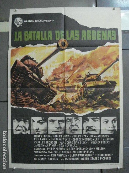 CDO 2404 LA BATALLA DE LAS ARDENAS HENRY FONDA CHARLES BRONSON POSTER ORIGINAL 70X100 ESTRENO (Cine - Posters y Carteles - Bélicas)