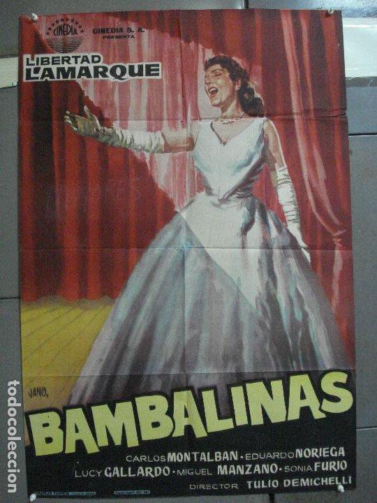 CDO 2414 BAMBALINAS LIBERTAD LAMARQUE POSTER ORIGINAL 70X100 ESTRENO (Cine - Posters y Carteles - Musicales)