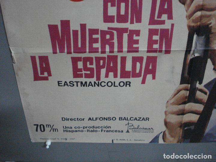 Cine: CDO 2416 CON LA MUERTE EN LA ESPALDA GEORGE MARTIN EURO SPY POSTER ORIGINAL 70X100 ESTRENO - Foto 5 - 204316947
