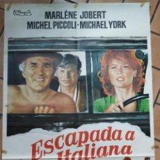 Cine: CARTEL DE LA PELICULA ESCAPADA A LA ITALIANA. 100 X 70 CM. Lote 204320098