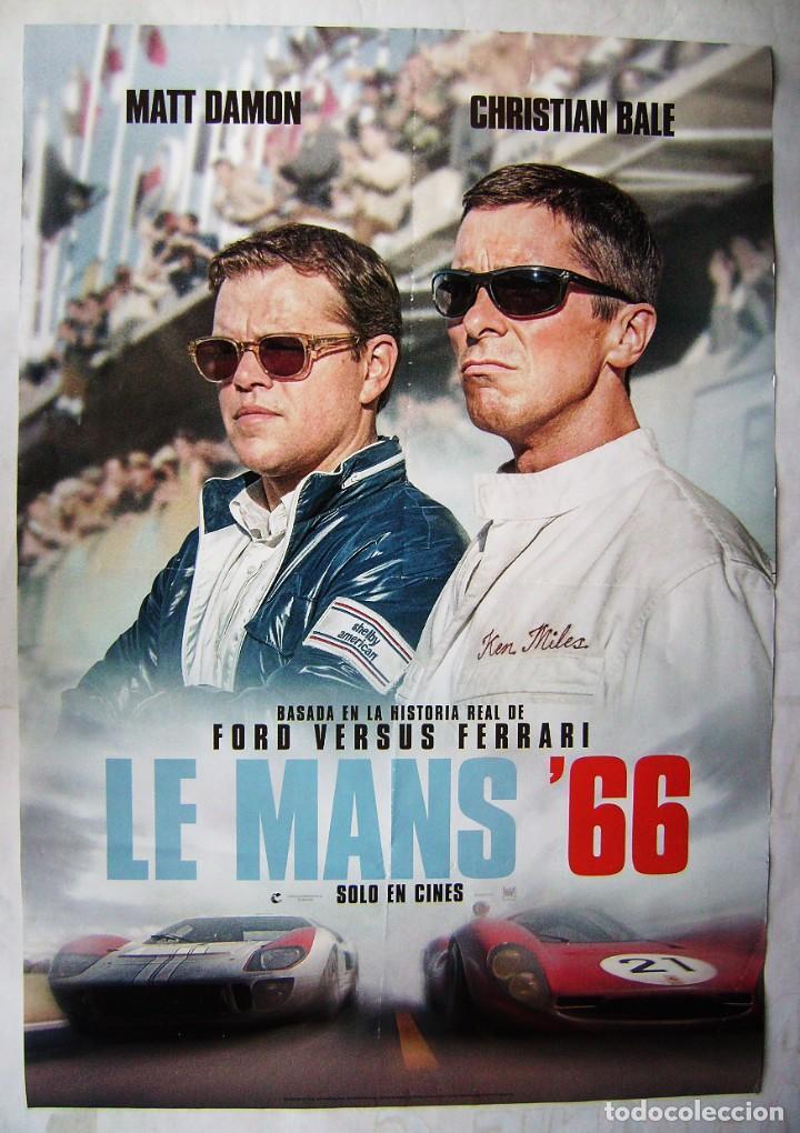 LEMANS'66, CON MATT DAMON. POSTER PROMOCIONAL 68 X 97,5 CMS. (Cine - Posters y Carteles - Deportes)