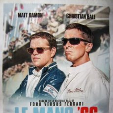 Cine: LEMANS'66, CON MATT DAMON. POSTER PROMOCIONAL 68 X 97,5 CMS.. Lote 204332643