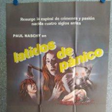 Cine: LATIDOS DE PÁNICO. PAUL NASCHY, FRANCES ONDIVIELA, JULIA SALY. AÑO 1983. POSTER ORIGINAL. Lote 204335675