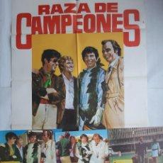 Cine: ANTIGUO CARTEL CINE RAZA DE CAMPEONES + 12 FOTOCROMOS 1974 JANO CC194. Lote 204368545