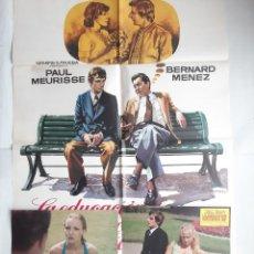 Cine: ANTIGUO CARTEL CINE EDUCACION AMOROSA DE VALENTIN X + 12 FOTOCROMOS 1975 MAD CC203. Lote 204370501