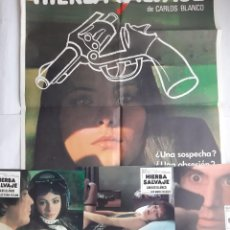 Cine: ANTIGUO CARTEL CINE HIERBA SALVAJE + 12 FOTOCROMOS 1978 MGR CC204. Lote 204372007