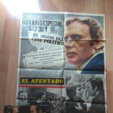 Cine: POS-1-POSTER Y 7 FOTOCROMOS DE LA PELICULA--EL ATENTADO. Lote 204425608