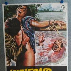 Cine: INFIERNO EN LA SELVA. GIUSEPPE SCARCELLA, EDWARD CLARK. AÑO 1980. POSTER ORIGINAL. Lote 204468477