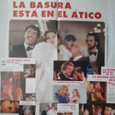 Cine: ANTIGUO CARTEL CINE LA BASURA ESTA EN EL ATICO + 12 FOTOCROMOS 1979 CC212. Lote 204482656