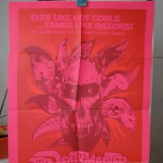 Cine: ORIGINAL POSTER THE DEATHMASTER ROBERT QUARRY BOB PICKETT RAY DANTON 1972. Lote 204625887