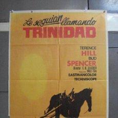 Cine: CDO 2432 LE SEGUIAN LLAMANDO TRINIDAD TERENCE HILL BUD SPENCER SPAGHTTI POSTER ORIG 70X100 ESTRENO. Lote 204646767