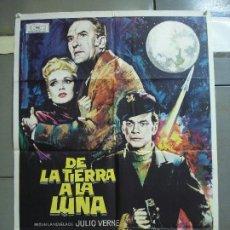 Cine: CDO 2437 DE LA TIERRA A LA LUNA DEBRA PAGET JULIO VERNE MAC POSTER ORIGINAL 70X100 ESTRENO. Lote 204649918