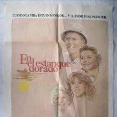 Cine: EN EL ESTANQUE DORADO, CON HENRY FONDA. POSTER 70 X 100 CMS. 1982.. Lote 204651138
