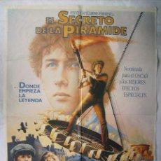 Cine: EL SECRETO DE LA PIRÁMIDE, PROD. STEVEN SPIELBERG. POSTER 70 X 100 CMS. 1986.. Lote 204652853