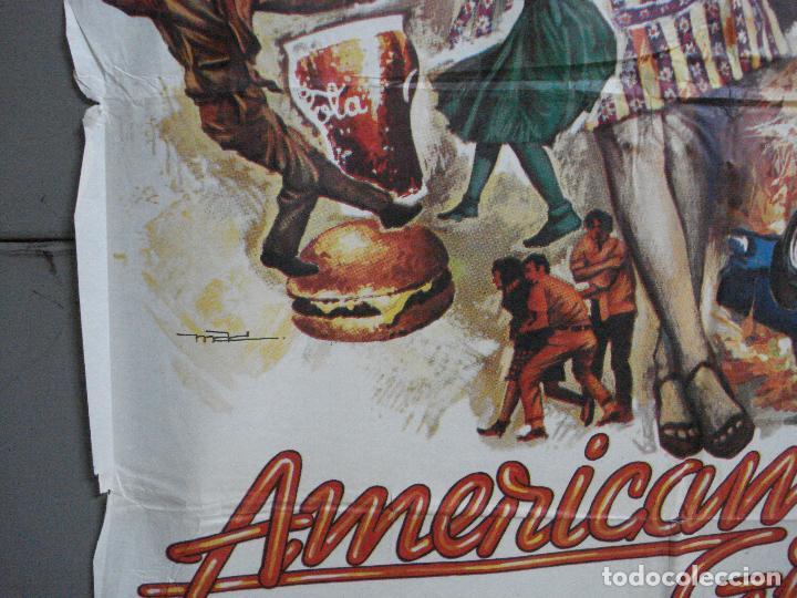 Cine: AAH69 AMERICAN GRAFFITI GEORGE LUCAS HARRISON FORD MAC POSTER ORIGINAL 70X100 ESTRENO - Foto 4 - 204655737