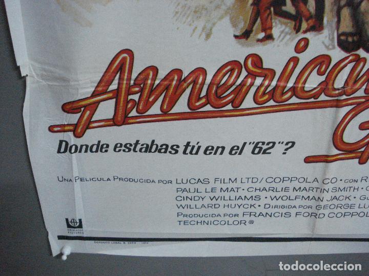 Cine: AAH69 AMERICAN GRAFFITI GEORGE LUCAS HARRISON FORD MAC POSTER ORIGINAL 70X100 ESTRENO - Foto 5 - 204655737