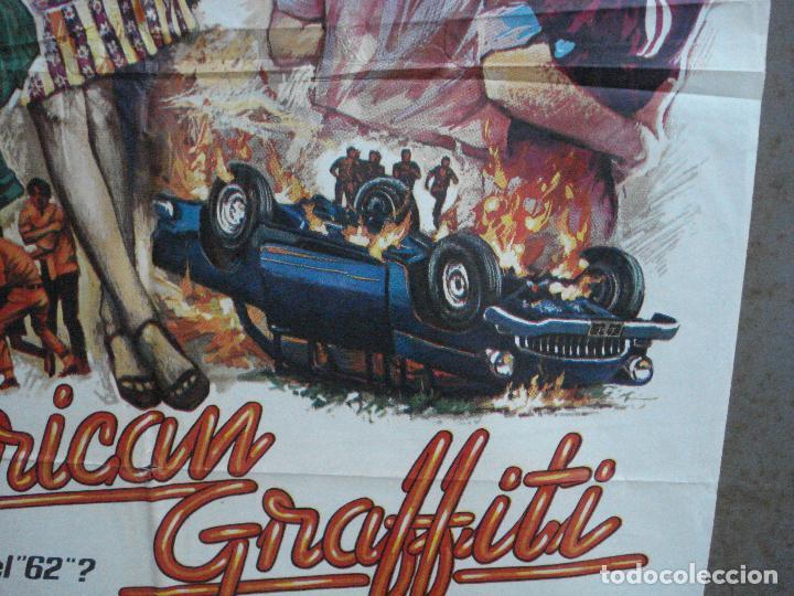 Cine: AAH69 AMERICAN GRAFFITI GEORGE LUCAS HARRISON FORD MAC POSTER ORIGINAL 70X100 ESTRENO - Foto 8 - 204655737