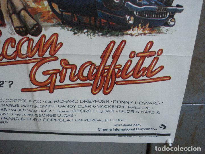 Cine: AAH69 AMERICAN GRAFFITI GEORGE LUCAS HARRISON FORD MAC POSTER ORIGINAL 70X100 ESTRENO - Foto 9 - 204655737