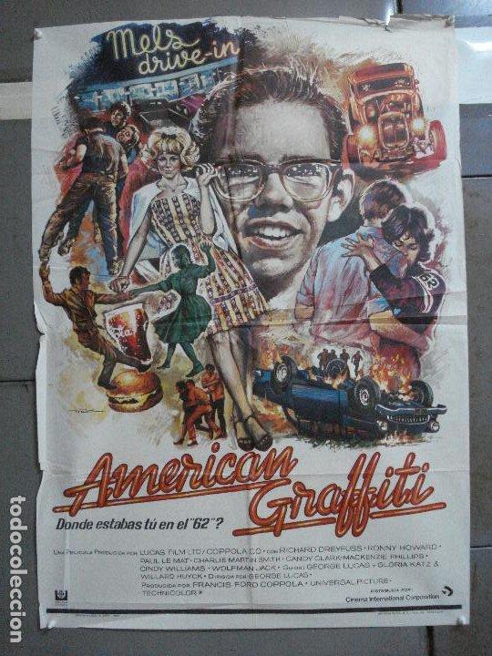 AAH69 AMERICAN GRAFFITI GEORGE LUCAS HARRISON FORD MAC POSTER ORIGINAL 70X100 ESTRENO (Cine - Posters y Carteles - Musicales)