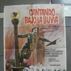 Cine: AAH70 CANTANDO BAJO LA LLUVIA GENE KELLY MARTI RIPOLL POSTER ORIGINAL 70X100 ESPAÑOL R-74. Lote 204656348