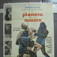 Cine: AAH71 EL PLANETA DE LOS SIMIOS CHARLTON HESTON POSTER ORIGINAL 70X100 ESPAÑOL R-84. Lote 204656892