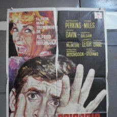 Cine: AAH73 PSICOSIS PSYCHO ALFRED HITCHCOCK PERKINS MAC POSTER ORIGINAL 70X100 ESPAÑOL R-71. Lote 204659147