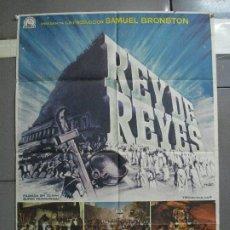 Cine: AAH79 REY DE REYES NICHOLAS RAY SAMUEL BRONSTON JEFFREY HUNTER MAC POSTER ORIGINAL 70X100 ESTRENO. Lote 204662645