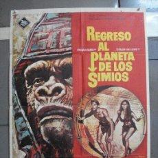 Cine: AAH80 REGRESO AL PLANETA DE LOS SIMIOS CHARLTON HESTON JAMES FRANCISCUS POSTER ORIG 70X100 ESTRENO. Lote 204662962