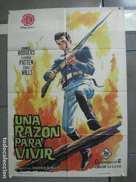 AAH85 UNA RAZON PARA VIVIR JIMMIE RODGERS LUANA PATTEN CHILL WILLS POSTER ORIGINAL 70X100 ESTRENO (Cine - Posters y Carteles - Westerns)