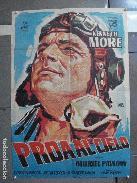 AAH90 PROA AL CIELO KENNETH MOORE JANO POSTER ORIGINAL 70X100 ESTRENO (Cine - Posters y Carteles - Bélicas)