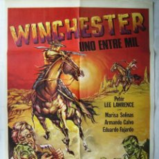 Cine: WINCHESTER, UNO ENTRE MIL, CON PETER LEE LAWRENCE. POSTER 69,5 X 99,5 CMS. 1978.. Lote 204673295